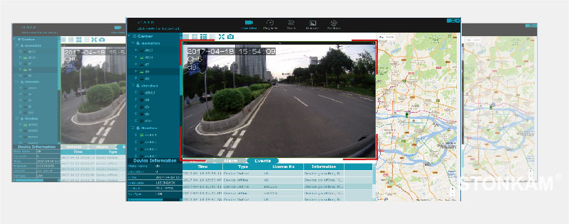 Intelligent 8CH HD around-view MDVR integrated system for driving safety